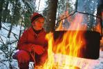 Снимок сделан во время семидневного лыжного похода вдоль Ладожского озера