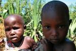 Дети из племени масаев, сфотографированы в восточной Африке