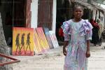 На фотоснимке сувенирная лавка, Танзания, Занзибар