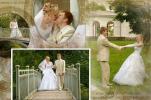 Свадебный альбом с коллажами Фотограф Григорьев, Петербург