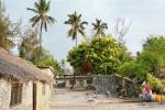 Рыбацкий поселок на берегу Индийского океана, остров Занзибар, республика Танзания
