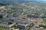 Площадь Победы в Санкт-Петербурге, аэрофотосъемка