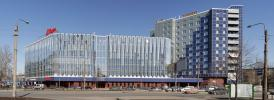 Панорамное фото здания на площади Конституции в Санкт-Петербурге