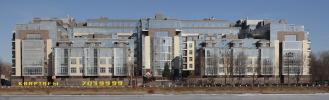Панорамная фотография нового дома на Крестовском острове