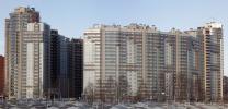 На фото - жилой комплекс «Новое созвездие», расположенный по адресу: проспект Просвещения дом 99 (в Санкт-Петербурге)