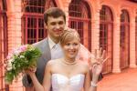 Свадебная прогулка в Петродворце в июле, фото