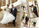 Оформление свадебной фотокниги коллажами