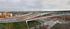 На фото, автотранспортная развязка КАД с Дачным проспектом, Предпортовой улицей и Западным скоростным диаметром