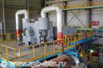 Генератор с турбиной на мини ТЭЦ картонно-полиграфического комбината в городе Коммунар Гатчинского района Ленинградской области
