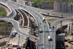 Вид на КАД с пилона Вантового моста