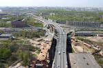Вид на КАД с пилона Вантового моста, в сторону Московского шоссе