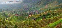 Rice Terraces, Pingan, Longsheng, Guilin, Guangxi, Southwest China (photo)