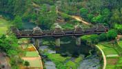 Мост Ветра и дождя в деревне Chengyang, уезд Санцзян (Sanjiang), фото