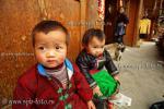 Китайцы дошкольного возраста из деревни национального меньшинства мяо, под названием Zengchong (增冲)