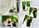 <b>Фото-коллаж для свадебной книги, составлен из  картинок, снятых на Елагином острове в Санкт-Петербурге