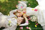 Свадебная фотосессия на траве