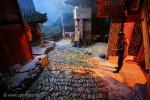 Сумерки в южно-китайской деревне Ланде (Langde Miao ethnic minority village)