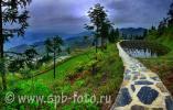 Отдых в Китае, горный пейзаж на Юго-Западе сраны, юго-восток провинции Гуйчжоу,   деревня национальных меньшинств Xijiang