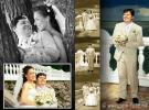 Свадебный коллаж из цветных и черно-белых, тонированных фотографий  Владимира Григорьева