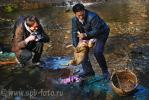 Фотограф Владимир Григорьев фотографирует китайца, который потрошит убитую собаку