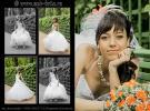 Свадебная фотосъемка в Питере, Летний сад 2012, невеста демонстрирует свое платье