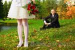 Осенняя свадебная прогулка в Екатерининском парке Пушкина
