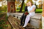 Осенняя свадьба в Царском селе (город Пушкин), октябрь 2011 года