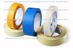 Пять роликов бумажной  клейкой ленты, или скотча,  разных цветов