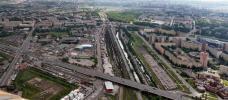Фото путепровода на проспекте Маршала Жукова (Автовский путепровод)