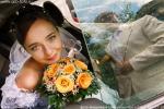 На фото свадьба Евгении и Евгения, 29 августа 2007 года