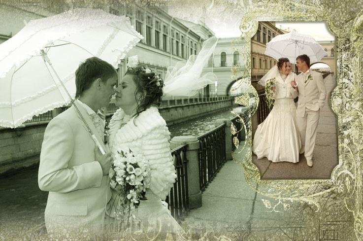 Фотограф на свадьбу в Санкт-Петербурге, изготовление коллажей