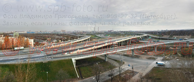 Фото транспортной развязки КАД,  ЗСД и Дачного проспекта