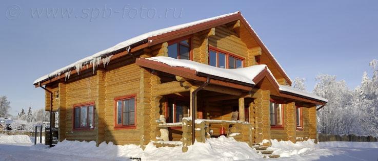 Профессиональная фотосъемка деревянных коттеджей
