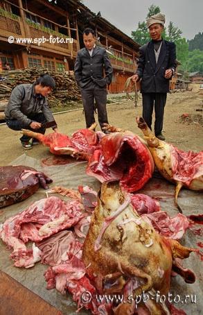 Свинина из Китая, цветная фотография