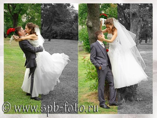 Свадебная фотосъемка в парке у Смольного, фото