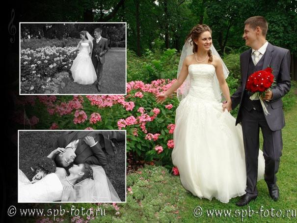 Разворот свадебной книги, фото