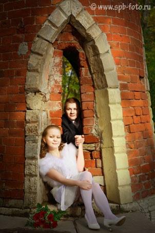Октябрьская свадьба, Царское село (город Пушкин), Екатерининский парк, осень 2011 года, фото