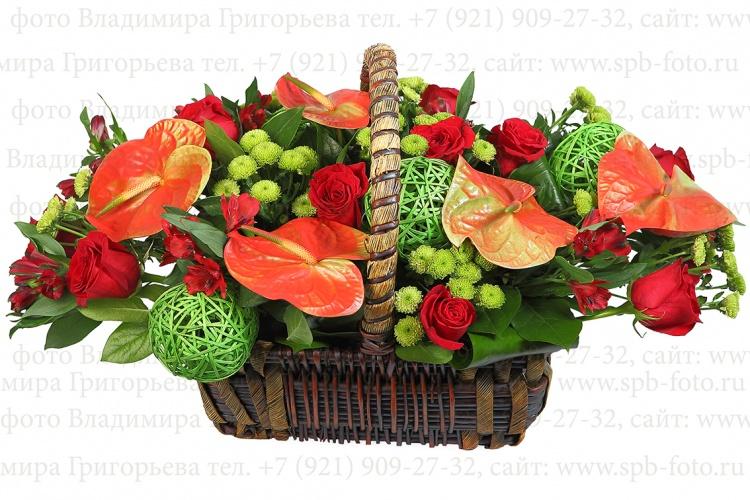 Фотосъемка цветов для интернет магазина