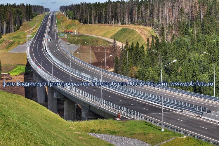 Мост путепровод через реку Смородинка в Приозерском районе Ленобласти