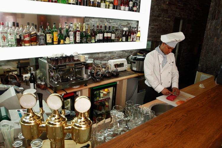 Суши-бар, фото интерьера