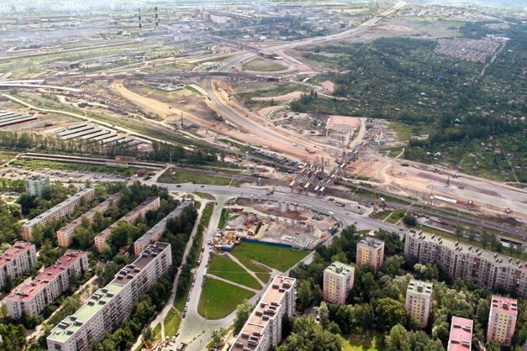Строительство развязки ЗСД на Дачном проспекте, фото