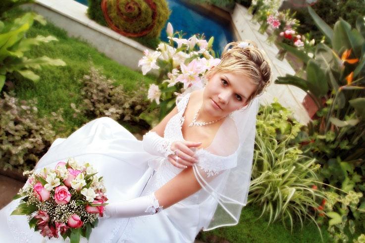Невеста в оранжерее на Шпалерной