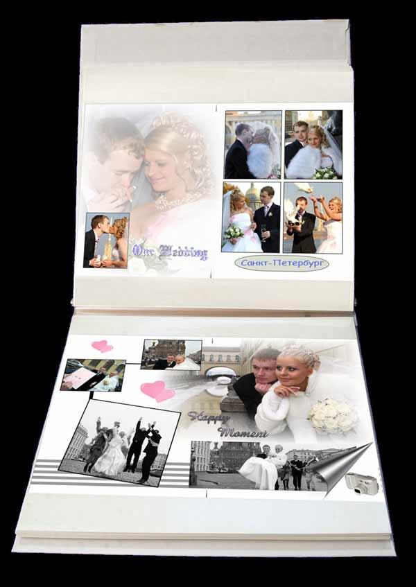 фотоальбомы с коллажами свадьбы